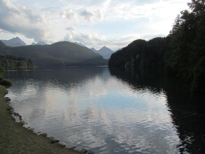 Фото Альпийского озера в Германии
