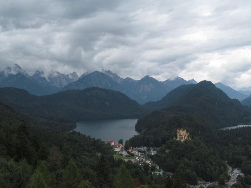 Вид на озеро Альпзее