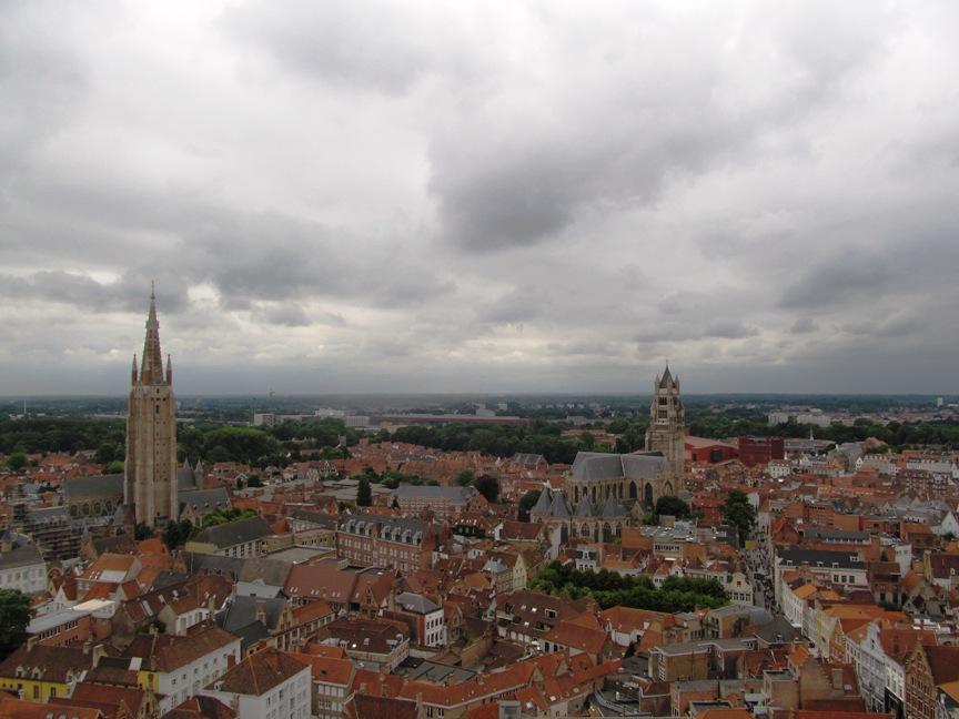 панорама Брюгге с высоты птичьего полёта