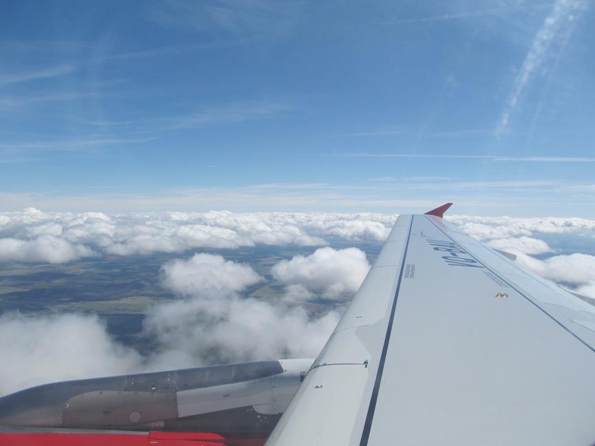 Фото из самолёта Дюссельдорф-Санкт-Петербург