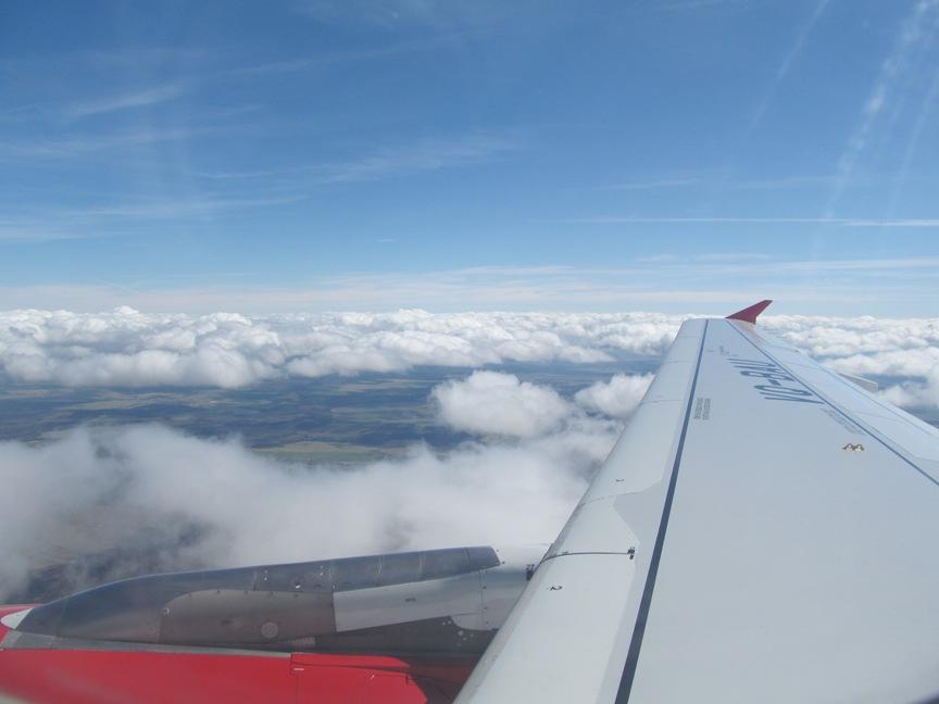 Фото облака из самолёта