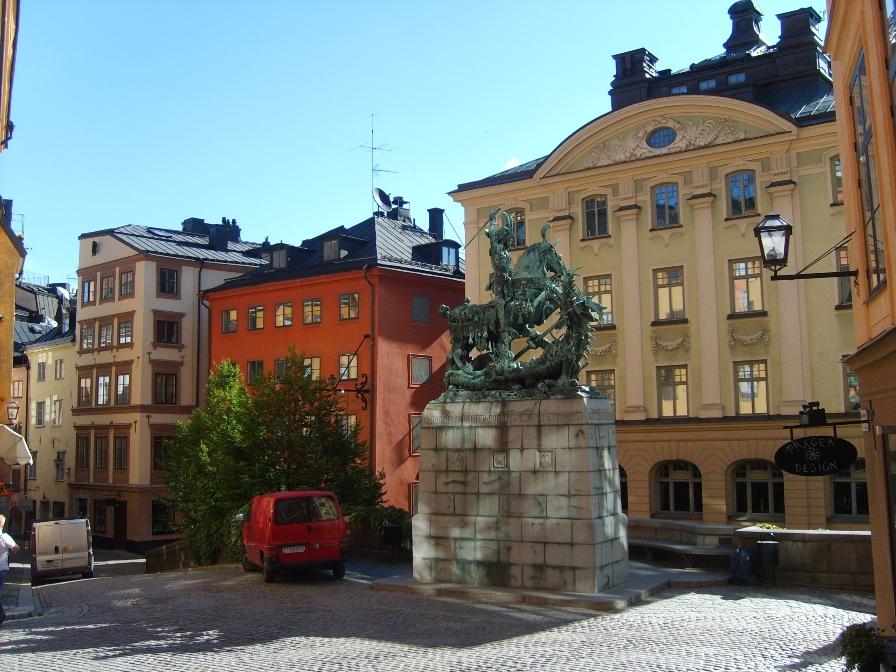 Памятник в Стокгольме
