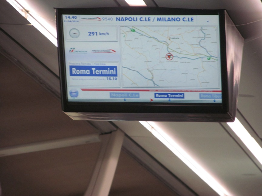 Скорость поезда в Италии