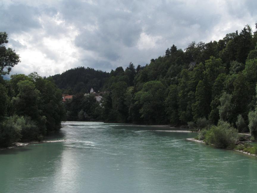 Река Лех в Фюссене