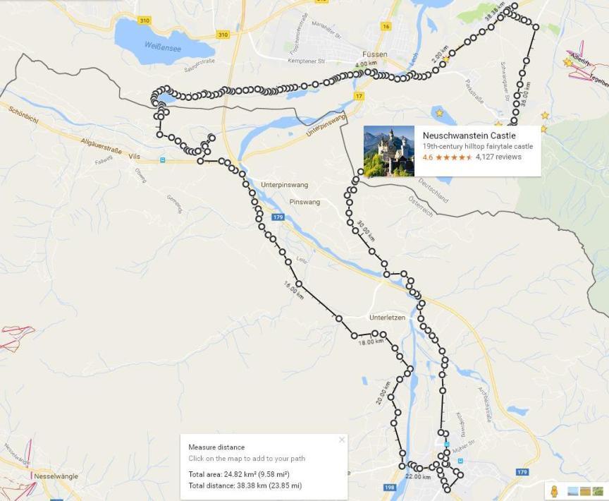 Из Германии в Австрию на велосипеде карта