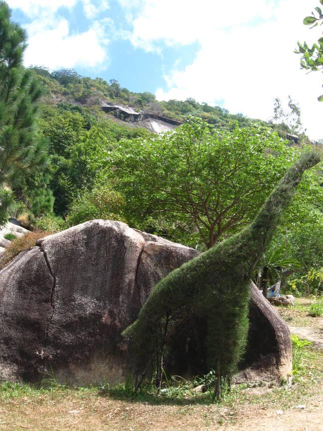 Фото динозавра на острове Вьетнама