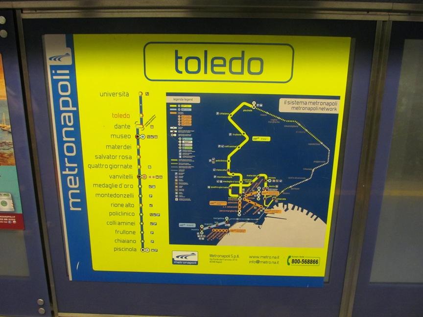Карта метро Неаполя