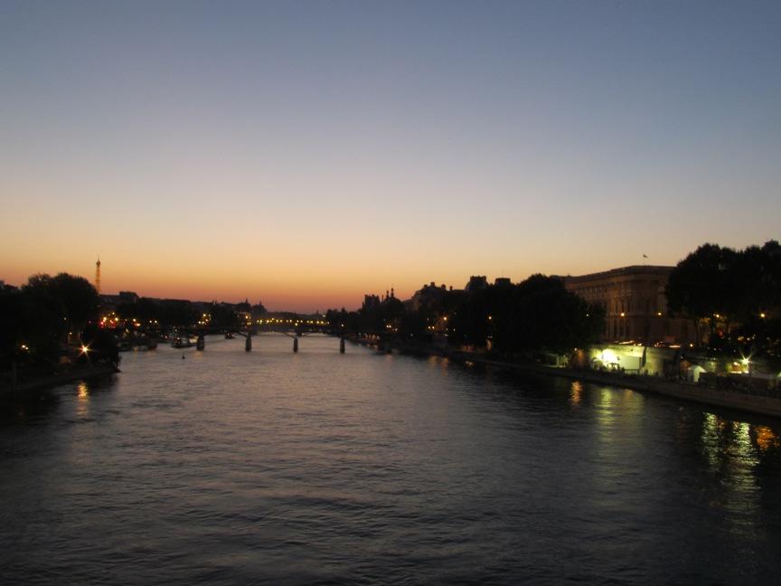 Сена в Париже фото ночью