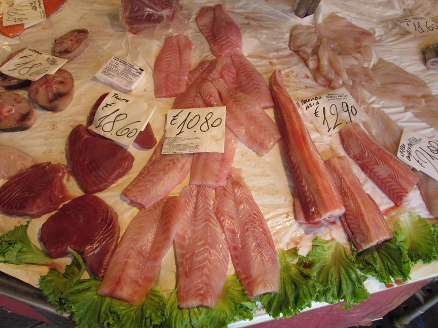Цены на рыбу в Венеции с фото