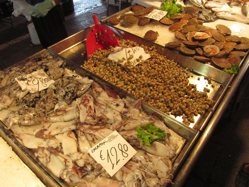 Цены на каракатицы в Венеции