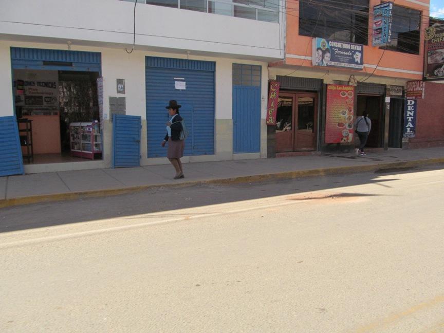 Женщина в Куско в Перу