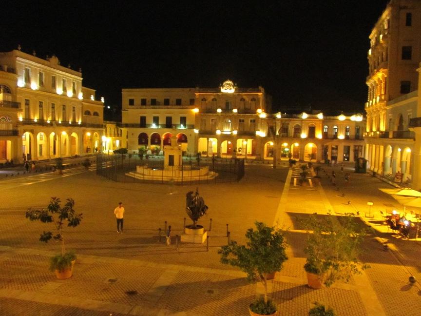 фото старой площади в Гаване