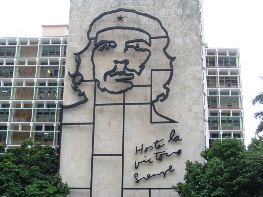 Че Гевара на площади Революции в Гаване