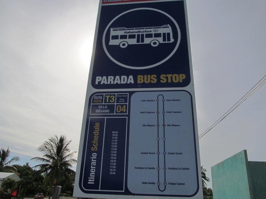Фото остановки автобуса на пляж в Гаване