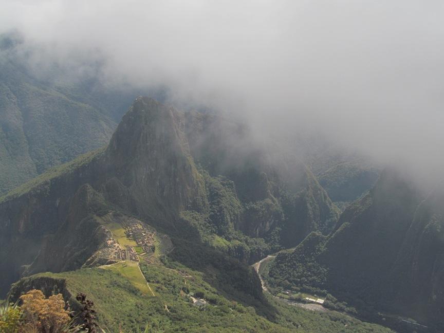 Панорама с Монтаньи Мачу-Пикчу
