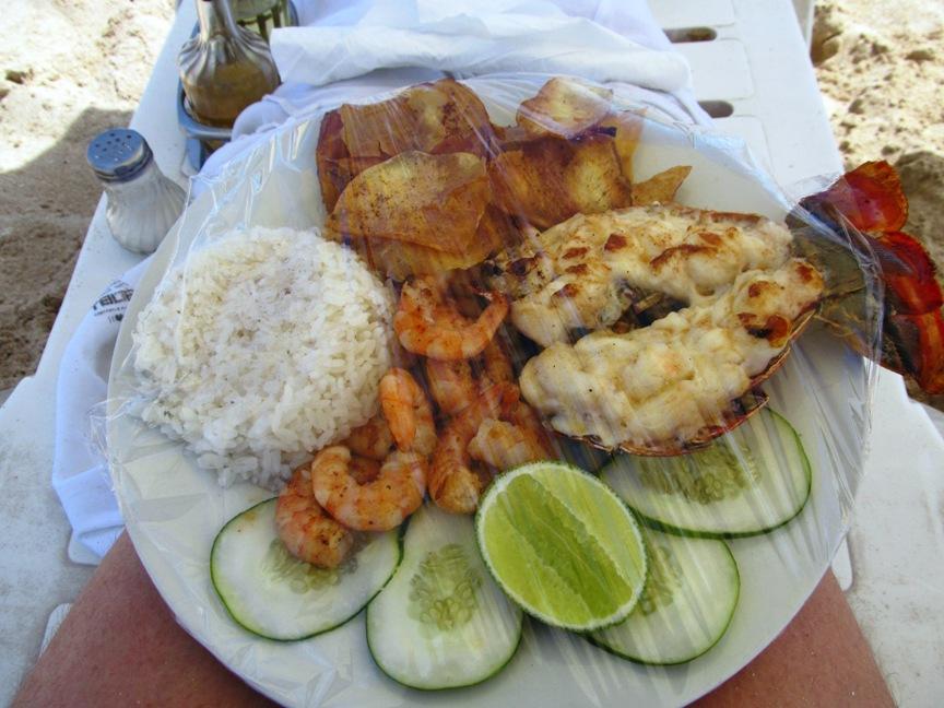 Еда на пляже Гаваны