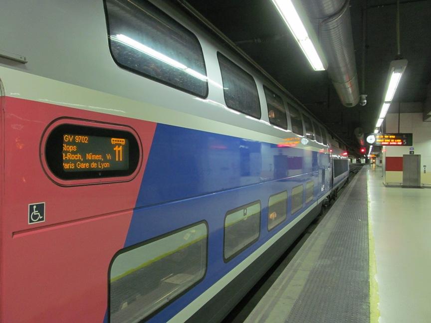 Фото TGV из Барселоны в Париж