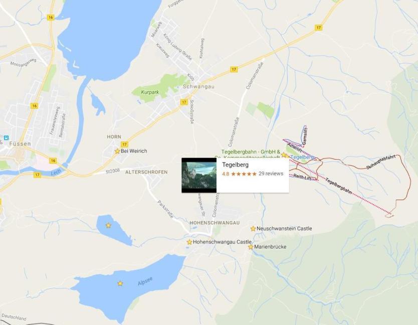 Тегельберг на карте