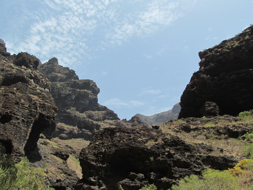 Фото в ущелье Маска на Тенерифе