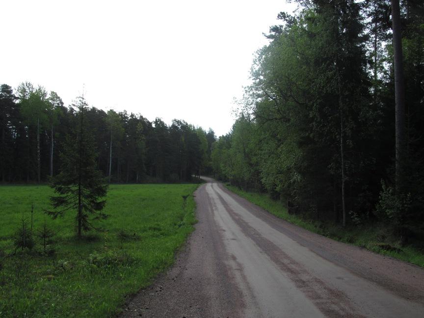 Фотография дороги на Валааме