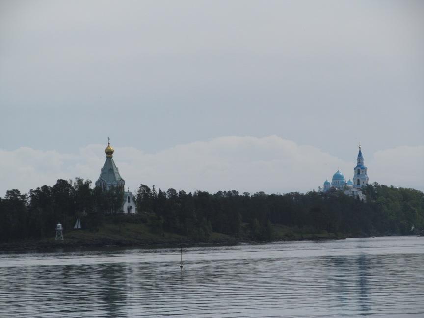 Валаамский монастырь с Ладожского озера