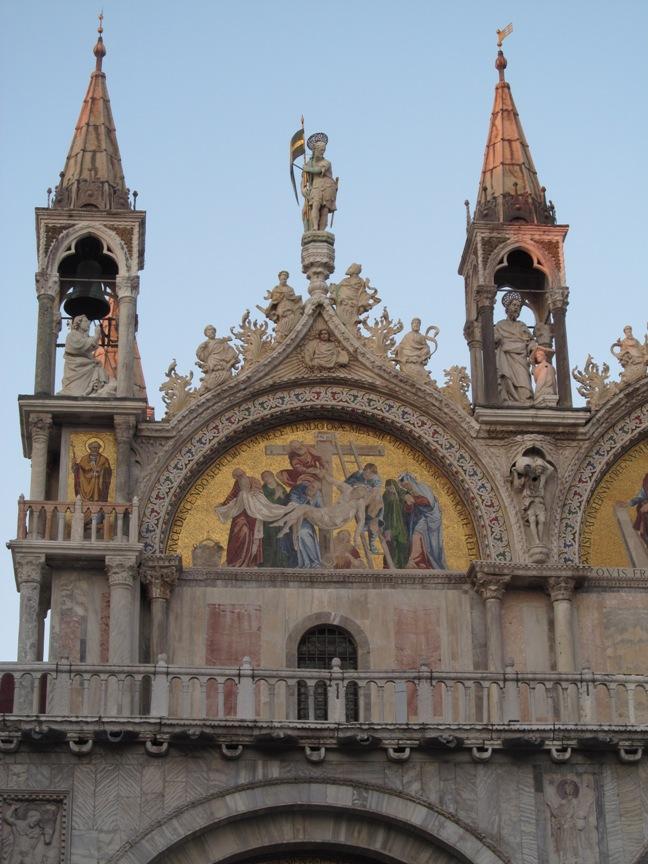 На фото фрески собора в Венеции
