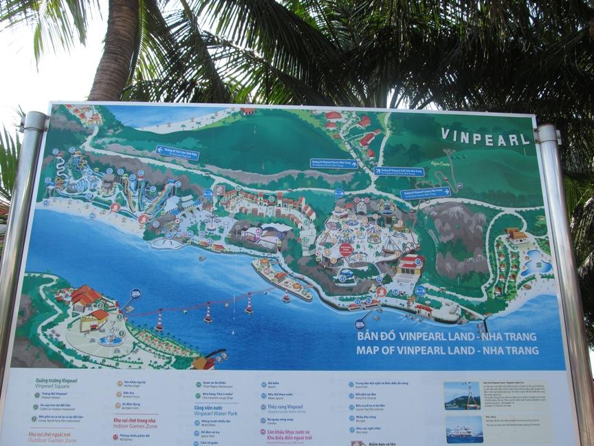 Карта острова Винперл (VinPearl) в Нячанге