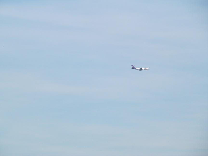 Самолёт в небе Кёльна