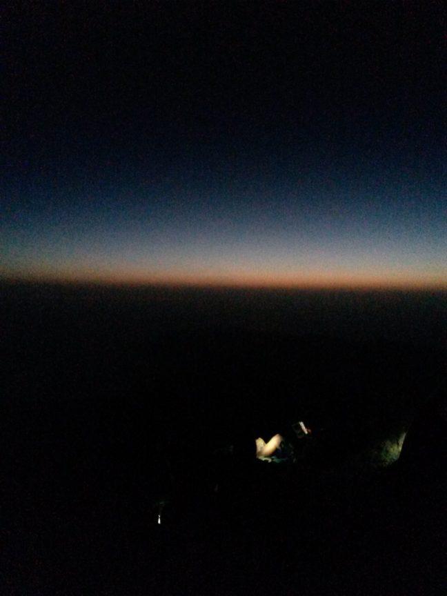 Рождение восходящего солнца на вершине Тейде