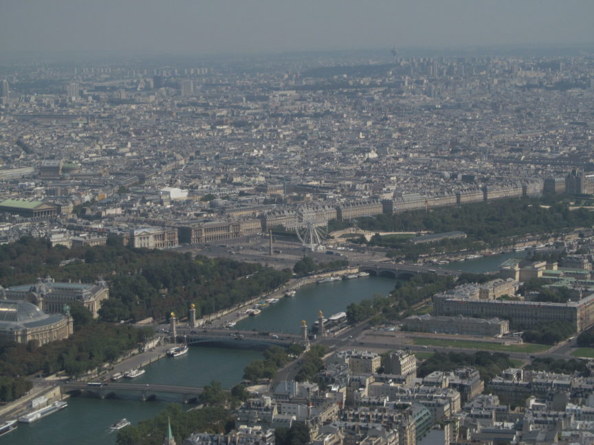 Вид с Эйфелевой башни на площадь Согласия