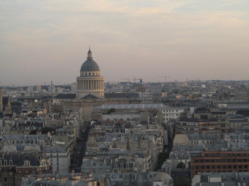 фото Парижа, вид на Пантеон