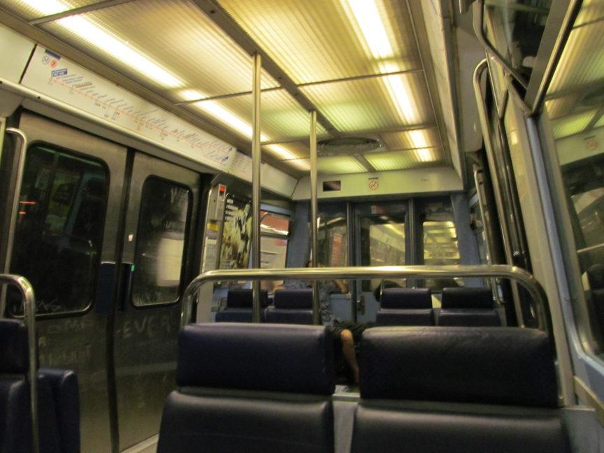 Вагон метро Парижа