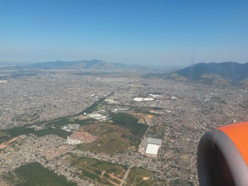 Окрестности Рио-де-Жанейро из самолёта