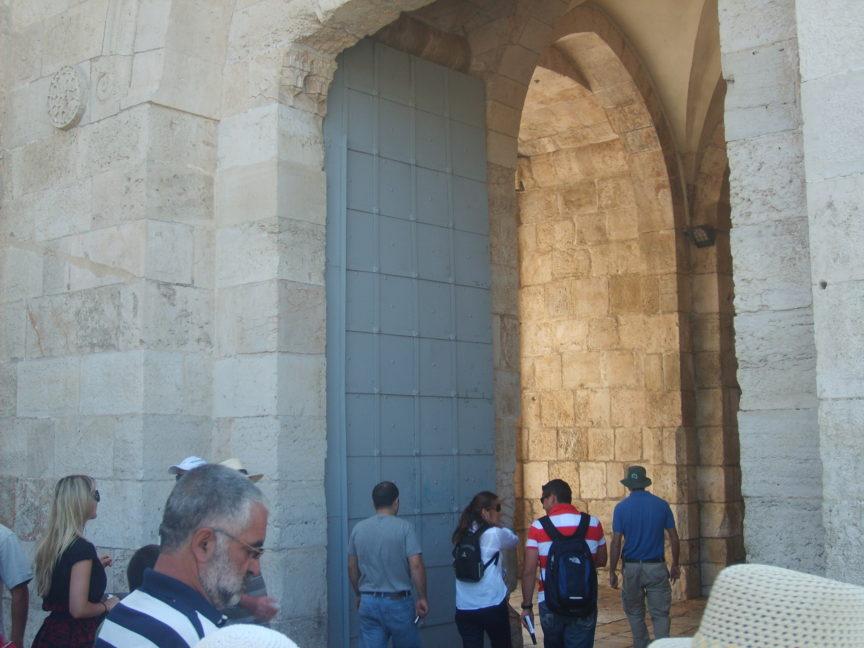 фото ворота в старый город иерусалим