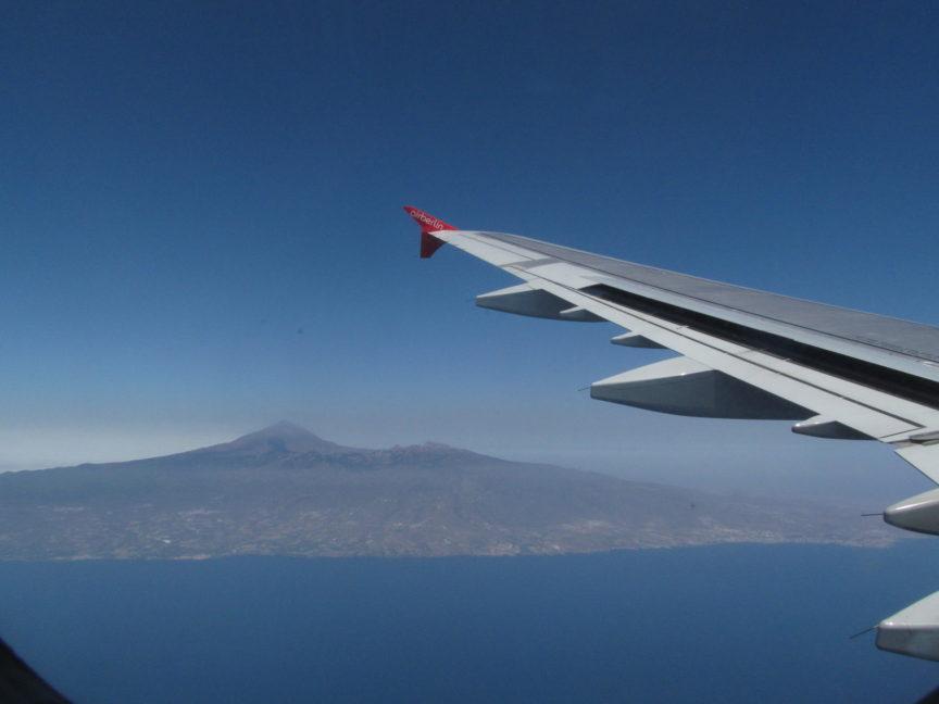 фото вулкана Тейде из самолёта