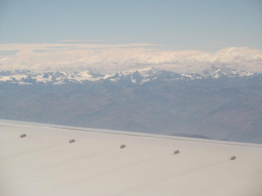 фотография Кордильер из самолёта