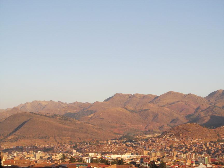 фото заката над Куско