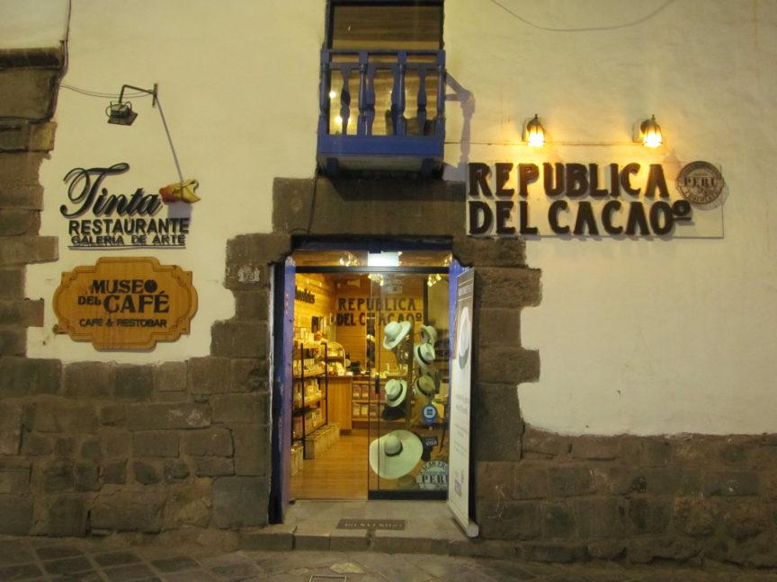 Магазин шоколада в Куско