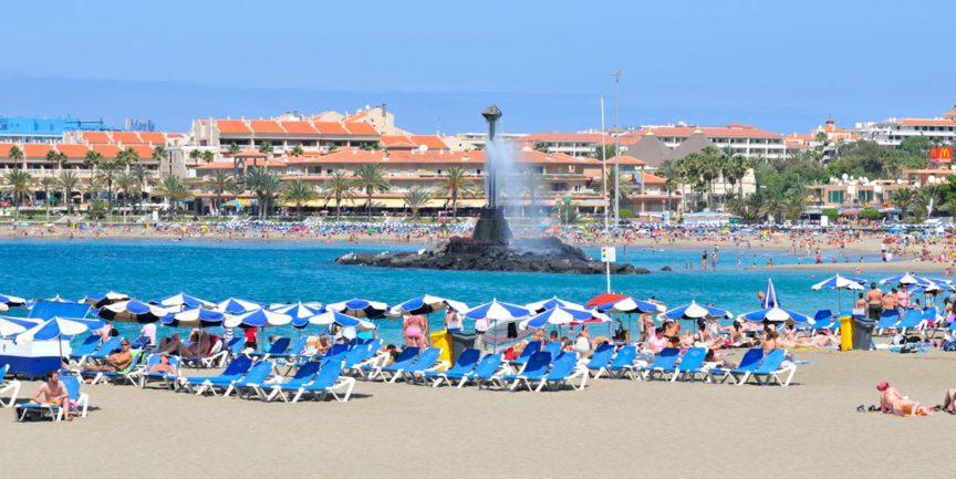 пляж тенерифе в лос кристианосе фото