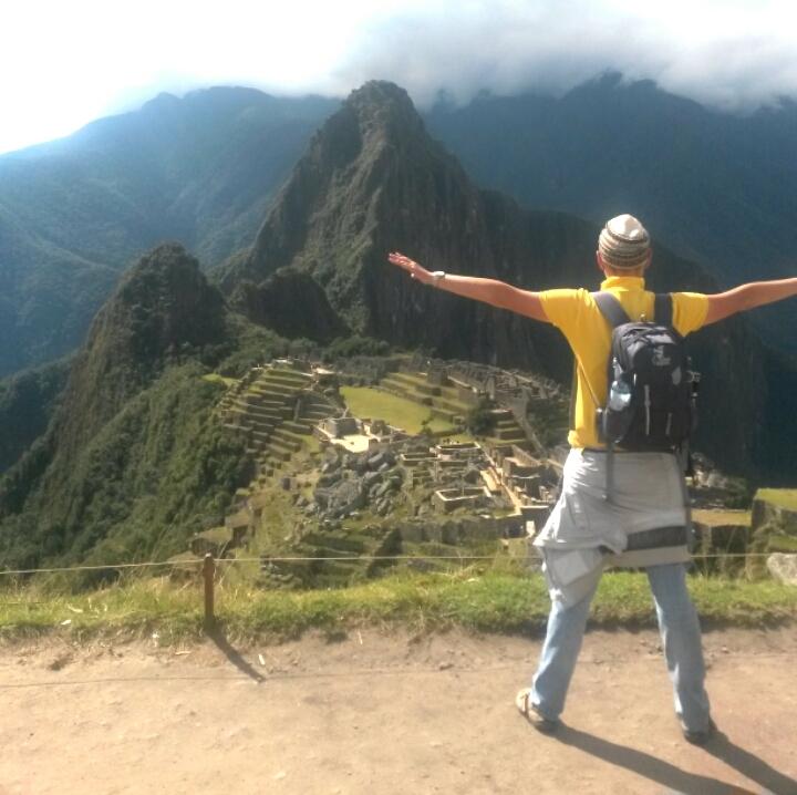 Фото с террасы Мачу-Пикчу