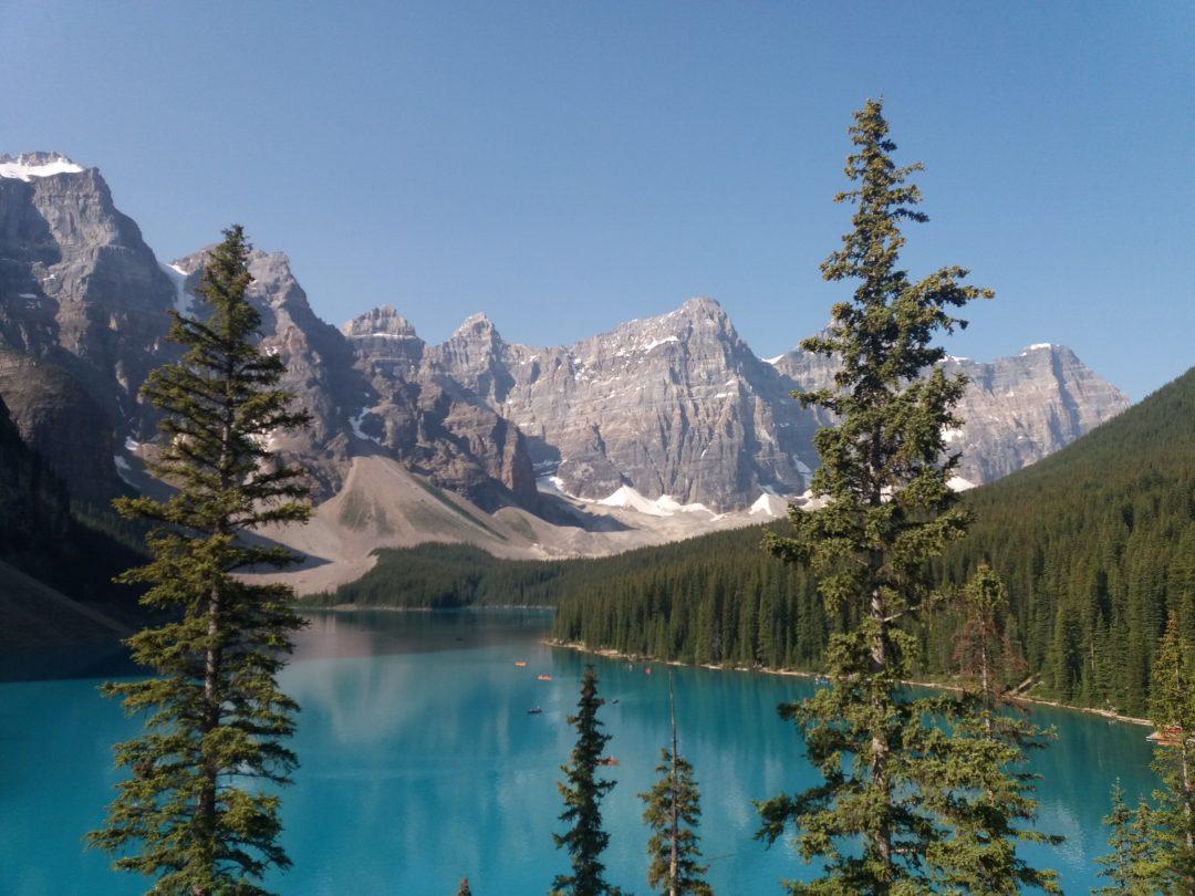 Озеро Морейн,поездка в Канаду