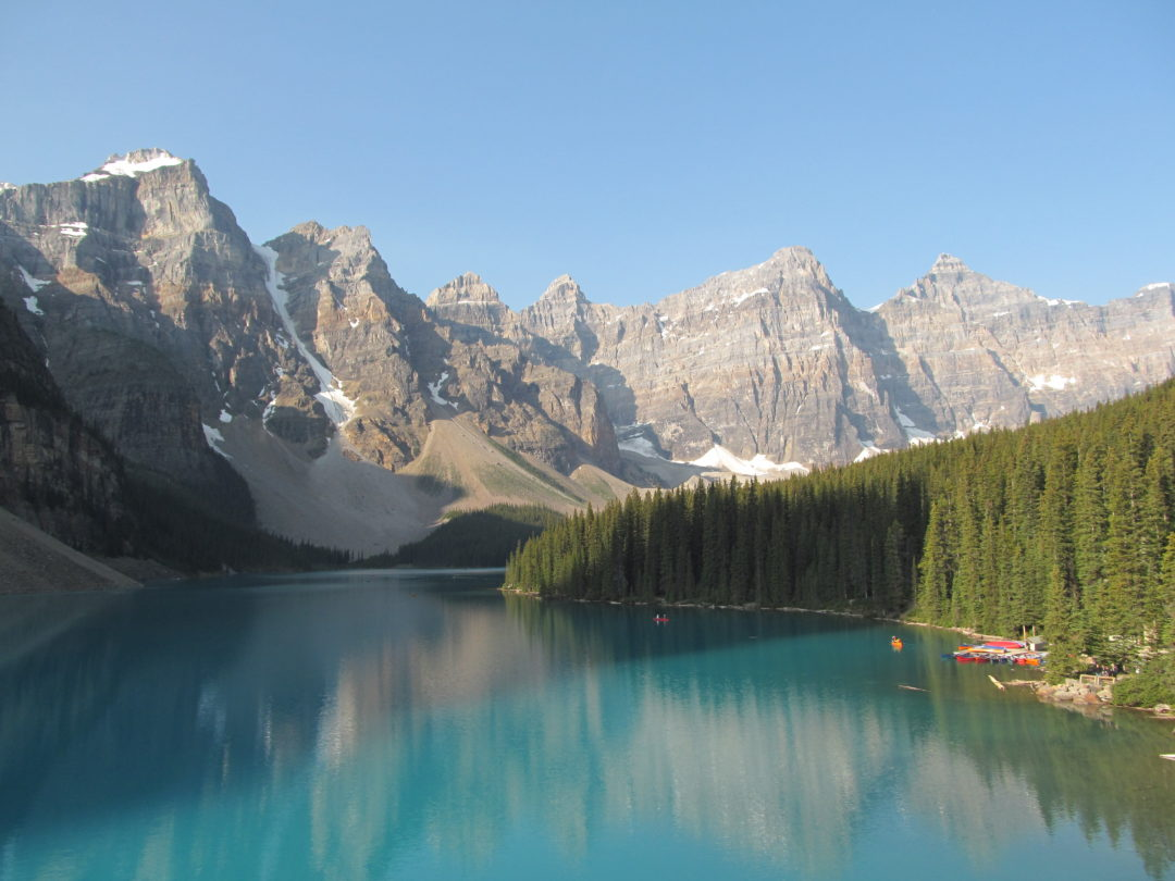 Озеро Морейн, поездка в Канаду