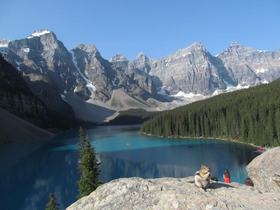 озеро морейн, бурундук, поездка в канаду