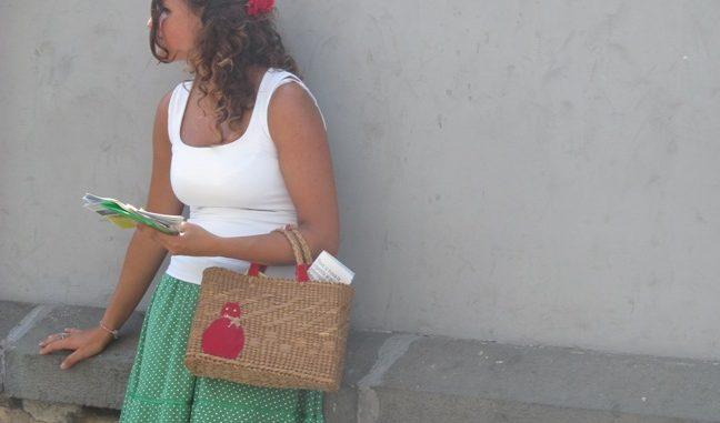 Фото девушки в Италии